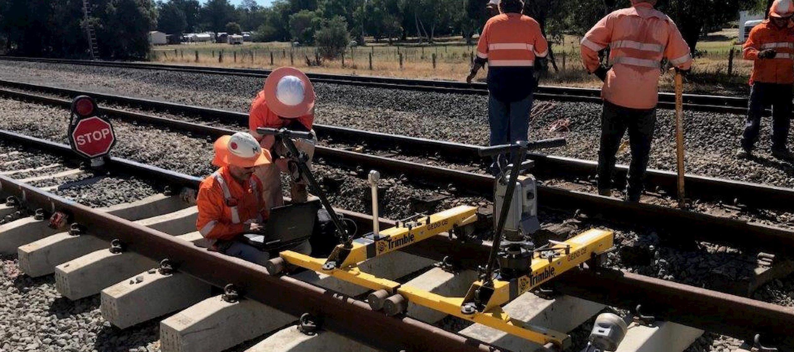 staff working on rail